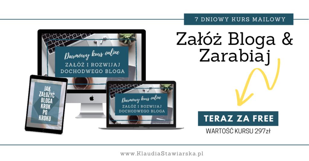 darmowy kurs online jak zarabiac na blogu