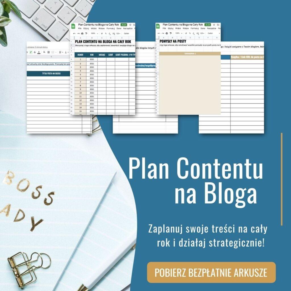 Plan Contentu na Bloga na cały rok