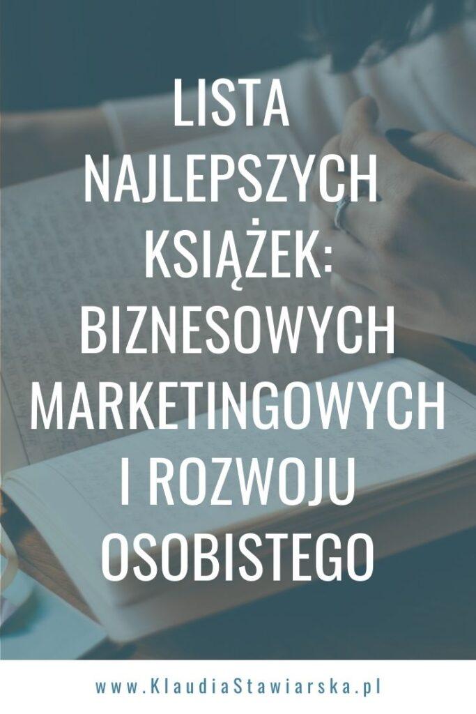 lista najlepszych książek biznesowych, marketingowych i rozwojowych