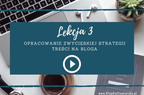 lekcja 3 Jak zacząć pisać bloga