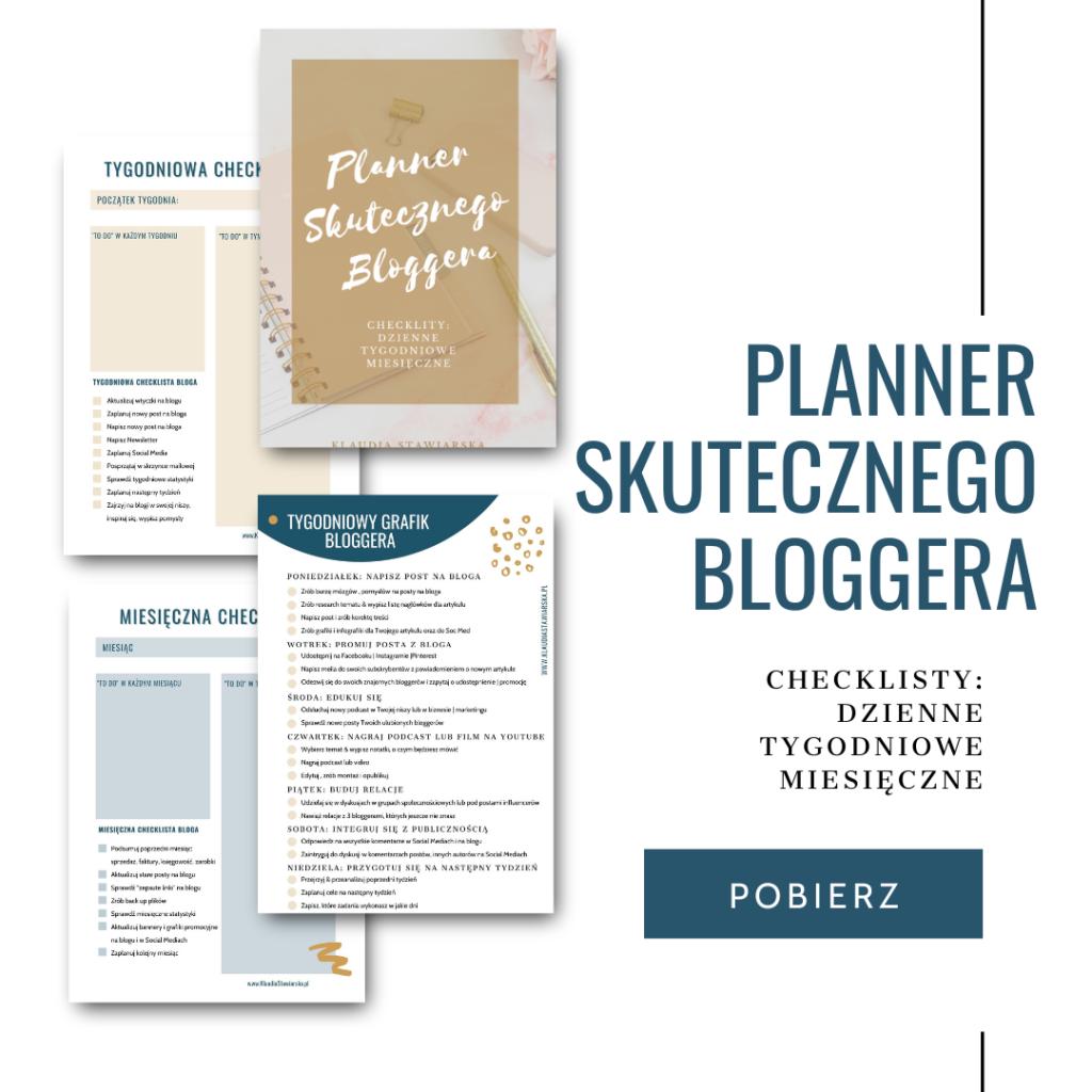 Checklista jak działać na blogu