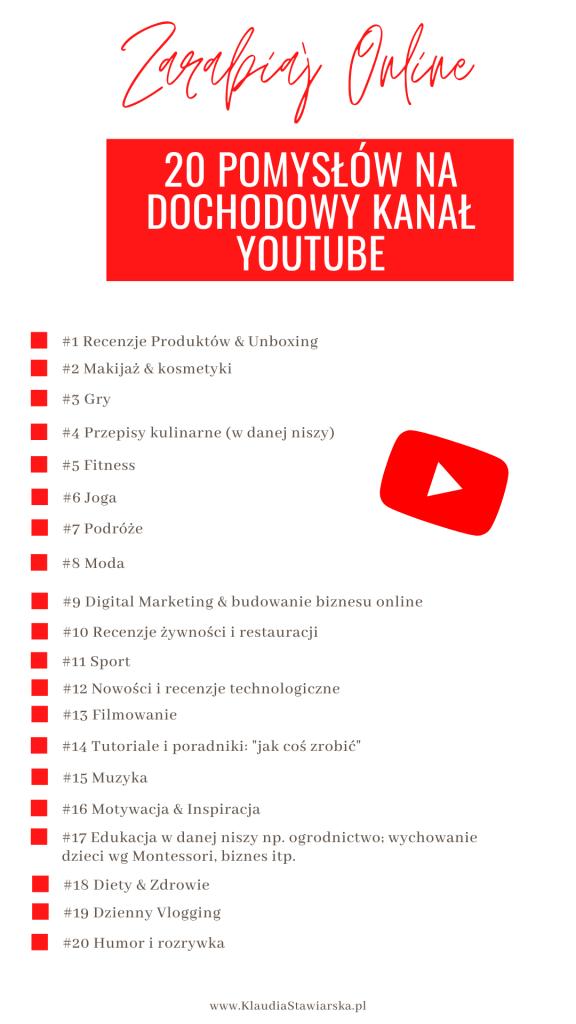 własny kanał na youtube